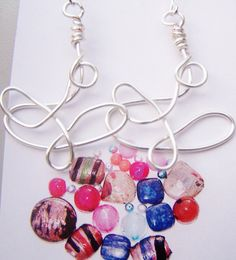 Silver plated funky wire handmade earrings by beadhobby on Etsy #pottiteam