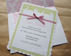 92 best invitations images on pinterest invitations invitation diy easter brunch invitations by do it yourself invitations layer white cardstock with a spring solutioingenieria Choice Image