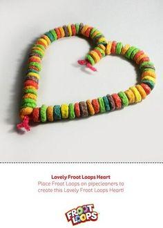 Lovely Froot Loops Heart helps kids develop fine motor skills #hearts