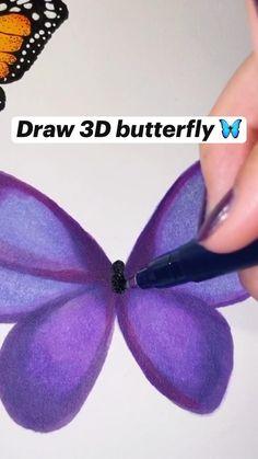 Art Painting Gallery, Diy Painting, Art Drawings Sketches Simple, Pencil Art Drawings, Wow Art, Diy Canvas Art, Marker Art, Drawing Techniques, Art Tutorials