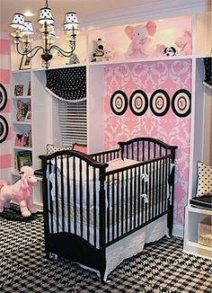 Cute as a button for a baby girl room
