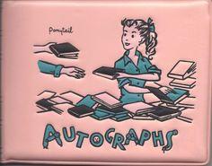 Vinyl autograph book
