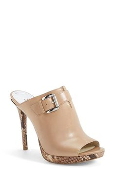 MICHAEL Michael Kors 'Isabella' Snake-Embossed Leather Platform Mule Sandal (Women) | Nordstrom