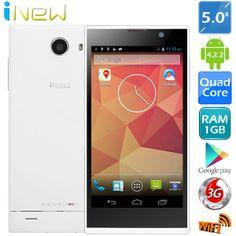 "(INEW) V3 5"" IPS Screen MTK6582 Android 4.2.2 Quad Core 3G Phone  http://www.minitake.com/es/inew-v3-px1y21i-p-84578.html"