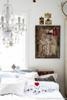 white and vintage bedroom