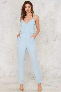 Control Freak Plunging Jumpsuit - Rompers + Jumpsuits
