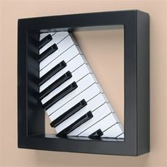Piano Keys in Black Frame...another idea for those old piano keys...