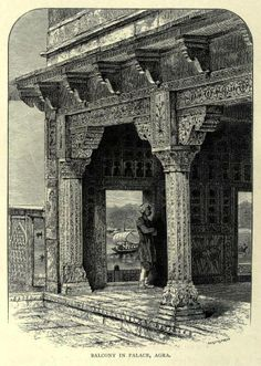 View of Jamuna River from Royal Palace in Agra Fort Drawn with pen and pencil  By the Rev. W. Urwick