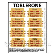 Dolls House Miniature Bulk Packaging - Dolls House Miniature Packaging Sheet of 8 Toblerone Boxes Miniature Crafts, Miniature Food, Miniature Dolls, Doll House Crafts, Doll Crafts, Diy Dollhouse, Dollhouse Miniatures, Dollhouse Furniture, Vitrine Miniature