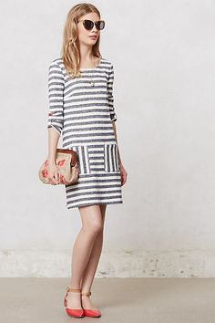 Striped Heather Shift  #anthropologie