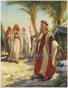 "Abraham invites ""visitors"" to rest."