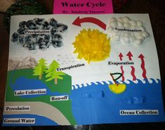 My sweet daughter's water cycle project! I think she did an amazing job!