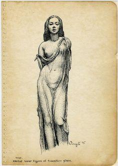 Figure Drawing: Virgil Finlay - Figures