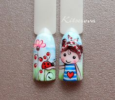 Про Ногти (МК,материалы для ногтей)Nails PRO™ Pop Art Nails, Cute Nail Art, Cute Nails, Nail Art Wheel, Mickey Nails, Nails For Kids, Magic Nails, Nail Art Videos, Rainbow Nails