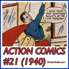 Action Comics #21 (1940). Don't you miss the old Superman?