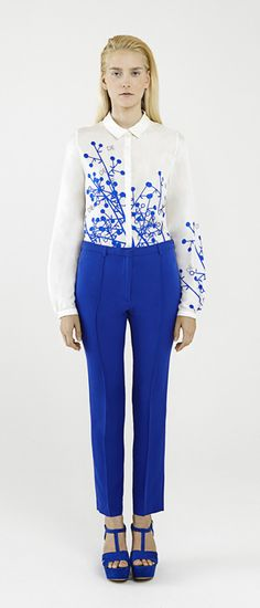 These Cobalt trousers: Dietrich Emter SS13  #fashion #prints