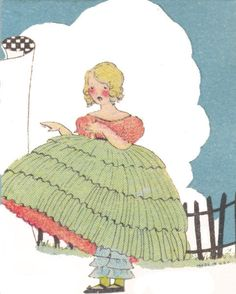 green dressed belle from Barbara by katinthecupboard, via Flickr