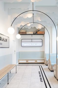 Maximalism – The Big Design Trend for Check Out These Maximalist Interiors Milk Train ice cream shop. Interior Design Trends, Retail Interior Design, Commercial Interior Design, Commercial Interiors, Interior Shop, Interior Design Elements, Retail Store Design, Nordic Interior, Bohemian Interior