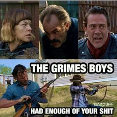 The Walking Dead #grimesboys #rick #coral aka #carl #twd