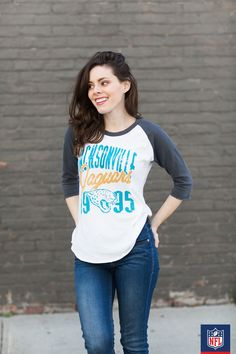 It's game time! Go bold in your Jacksonville Jaguars graphic henley.