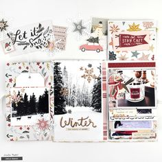 Winter Folio by Lorilei Murphy for Crate Paper ! Mini Albums, Mini Scrapbook Albums, Scrapbook Paper Crafts, Scrapbook Layouts, Scrapbooking Ideas, Snowflake Cards, Paper Snowflakes, Happy December, December Daily