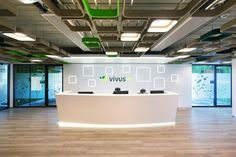 BIT CREATIVE Barnaba Grzelecki were engaged by Vivus, a fintech company, to design their offices located in Warsaw, Poland. A new headquarters of the Office Interiors, Interior Office, Workplace Design, Reception Areas, Warsaw, Bathtub, Offices, Architecture, Ceilings