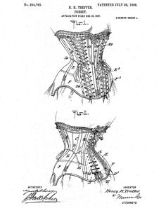 H.H. Trepper corset patent, 1908 Source: Google Patents