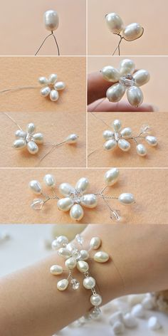 wire and pearl beads bracelet, like this one? LC.Pandahall.com will publish the tutorial soon. #pandahall