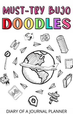 Become a bullet journal doodle pro with this ultimate doodle tutorial bundle! #doodle #bujo Happy Doodles, Bujo Doodles, Love Doodles, Simple Doodles, Bullet Journal Printables, Bullet Journal Art, Bullet Journal Ideas Pages, Art Journal Pages, Junk Journal
