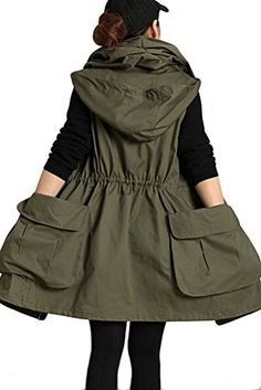 961e9d0d0cc88 Mordenmiss Women s Sleeveless Coat Big Pockets Waistcoat Travel Hoodie Vest  at Amazon Women s Coats Shop