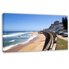 DesignArt 'Umdloti Seashore View in Durban' Photographic Print on Wrapped Canvas Size: