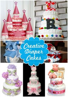 Creative diaper cake ideas for baby showers