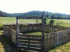 Animal pen made from pallets.