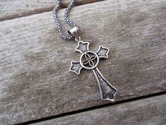 Medieval Cross necklace in sterling silver by Billyrebs on Etsy, $68.00