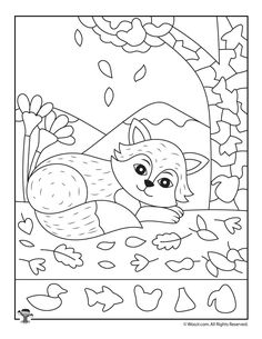Picture Page -Fall Fox Hidden Picture Page - Fall Hidden Pictures Printables Winter Snowman Hidden Picture Printable Hedgehogs Hidden Picture Activity Hidden Pictures Printables, Printable Pictures, Teaching Shapes, Autumn Activities For Kids, Printable Activities For Kids, Hidden Objects, Art Therapy Activities, Rainbow Print, Art For Kids