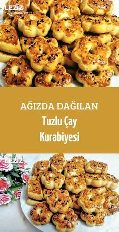 Salty Tea Cookies in the Mouth – My Delicious Food - Healthy Recipes Healthy Food Habits, Healthy Food To Lose Weight, Healthy Meals For Kids, Healthy Snacks, Healthy Recipes, Tea Cookies, Cookies Et Biscuits, Tea Biscuits, Turkish Recipes