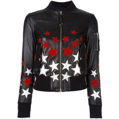 Htc Hollywood Trading Company star patch bomber jacket ($1,220) ❤ liked on Polyvore featuring outerwear, jackets, black, real leather jackets, blouson jacket, flight jacket, leather bomber jacket and patch leather jacket