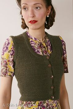 Ravelry: Knitted Waistcoat pattern by Susan Crawford. I love waistcoats and everything they embody.