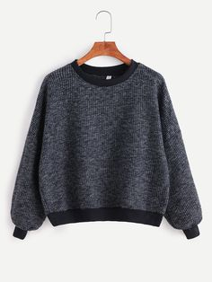 Shop Contrast Trim Drop Shoulder Ribbed Sweater online. SheIn offers Contrast Trim Drop Shoulder Ribbed Sweater & more to fit your fashionable needs.