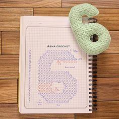 . الحمد لله على نِعَمٍ تسكُننا ونجهلُها.. • • #crochet_numbers #crochet  #كروشية