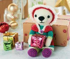 Crochet christmas polar bear