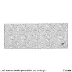 Cool Abstract Swirls Tyvek Wallet