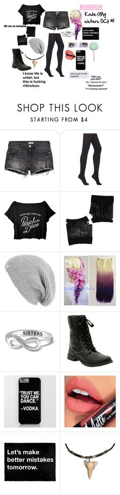 """Kade (My sister's OC) #1"" by i-love-cake3 ❤ liked on Polyvore featuring H&M, Wolford, Forever 21, UGG Australia, Jewelonfire, Hot Topic and Fiebiger"