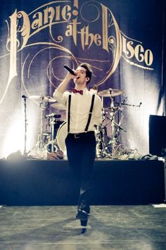 Brendon Urie in suspenders and bowtie ;) #panic!atthedisco