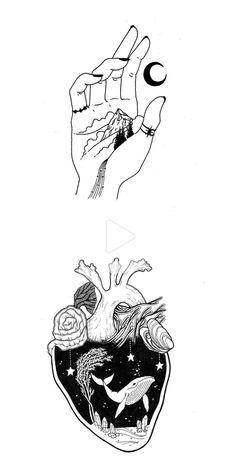 natur mountains elle_lna on Instagr - natur Pencil Art Drawings, Cool Art Drawings, Art Drawings Sketches, Tattoo Drawings, Space Drawings, Sketch Art, Drawing Art, Aesthetic Drawing, Aesthetic Art