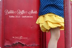 bubble ruffle shorts tutorial - see kate sew
