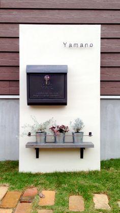 シンプル、かわいい門柱
