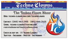 Pyro techno clown heating things up with pyrotechnics legal techno clowns business card colourmoves