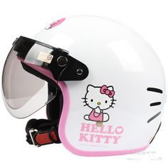 Fashion Halley EVO half capacete,electric bicycle Open face helmets,women's vintage Motorcycle helmet,Hello kitty-in Helmets from Automobiles & Motorcycles