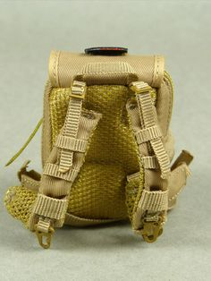 VeryCool Light Brown Color Heavy Duty Back Pack Canvas Fabric, Fabric Material, Action Figures, Scale, Backpacks, Dolls, Brown, Bags, Accessories